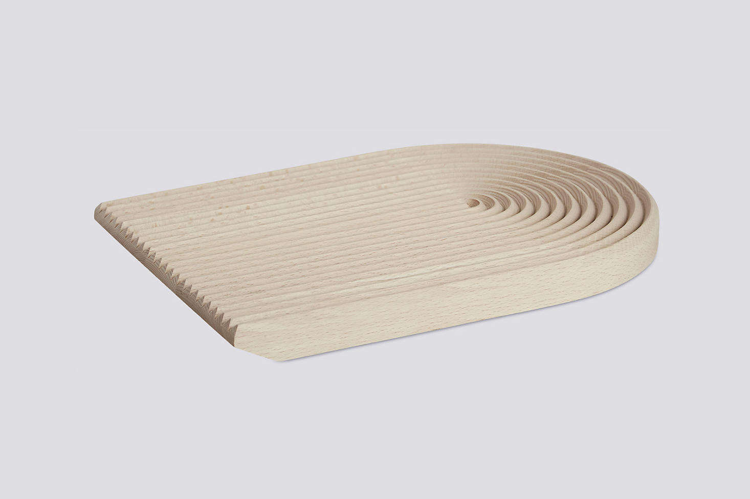 The grooved Field Cutting Board collects crumbs as you slice bread; $5src=