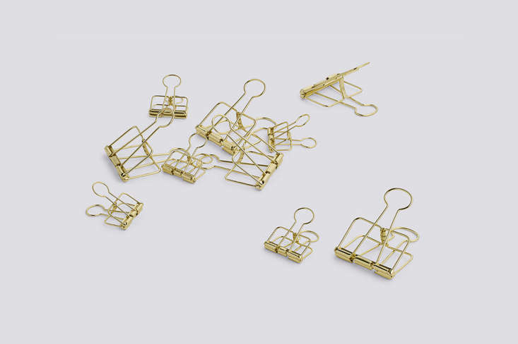 We love using binder clips in the kitchen for sealing bags of chips and crackers. These steel Outline Clips are especially attractive; $8.50 for 5 medium and 5 large clips. (SeeAha! Hack: 5 Smart and Surprising Alternative Uses for Binder Clips.)