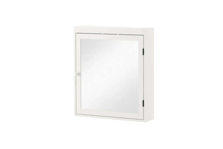Another budget option from Ikea is the more compact Silveran Mirror Cabinet measuring about  by  inches for $89.