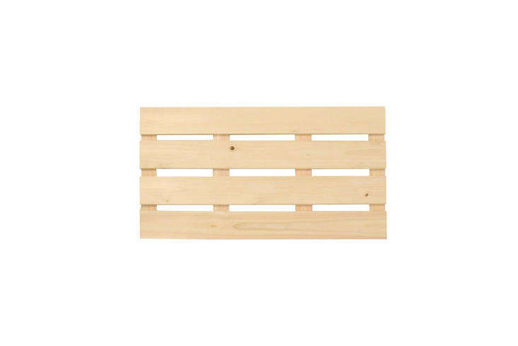 another bathroom essential is the hinoki bath mat. the japanese cypress wood is 20