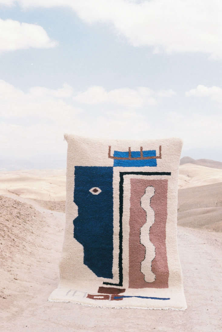 marrakesh based lrnce&#8\2\17;s asmabeni ouarain rug is hand made by four 16