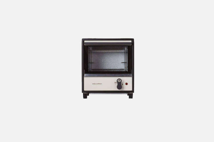 TheRécolte Solo Oven Toaster, shown in white, is compact, approximately  by loading=