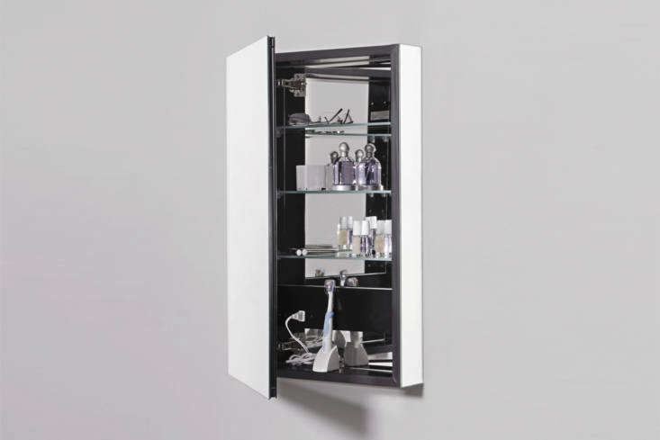 A favorite among architects is the Robern line of medicine cabinets, most of which are inset installation only, but Robern makes the more modular PL Series Cabinet that comes in non-electric (shown), electric, an arch top design, and three door design; prices start at $579 from Robern.