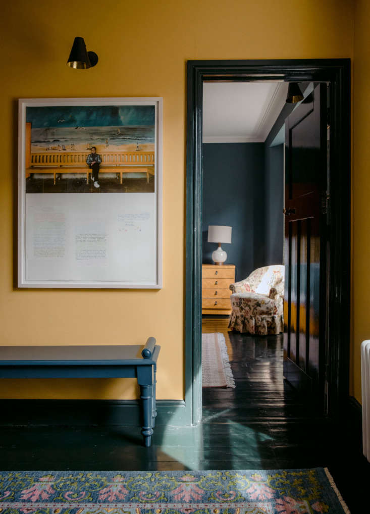 black painted wood floors in an english hotel; see more inthe rose: a singula 9