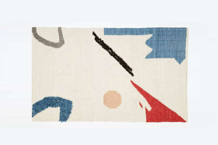 west elm&#8\2\17;s abstract shapes rug is based on a watercolor painting by 14