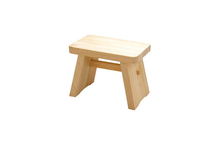 for an instant spa look, a short hinoki wood stool is a japanese bathhouse esse 19
