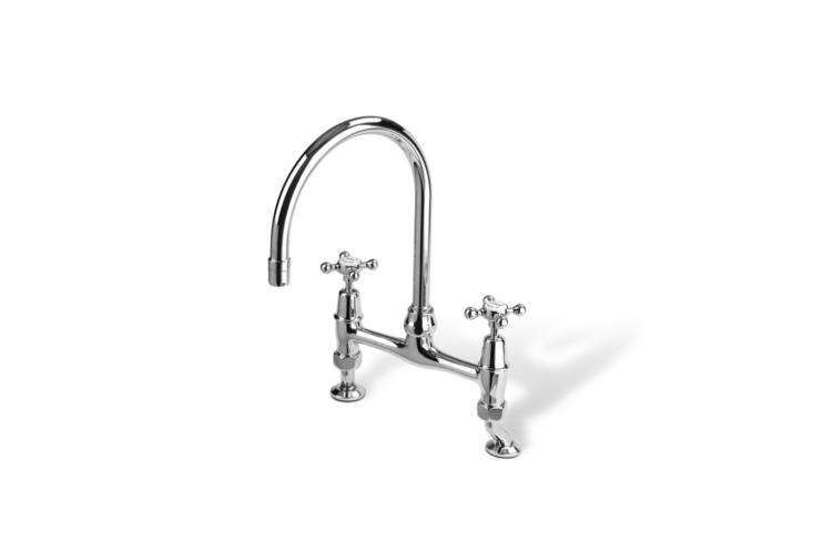 The Barber Wilsons  Kitchen Mixer Bridge Faucet comes in 7 finishes and ranges from $loading=