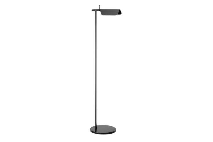 The Flos Tab Floor Lamp is designed by British team Edward Barber and Jay Osgerby for Flos in 07 and comes with black and white; $495 at Design Within Reach.