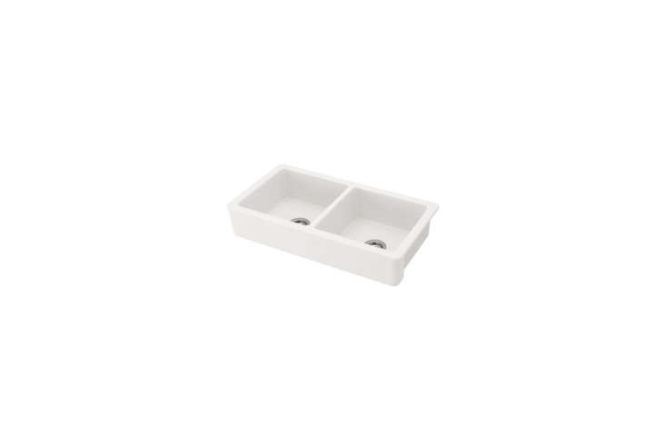 ikea&#8\2\17;s havsen apron front double bowl sink is \$\2\13. see \10 easy 16
