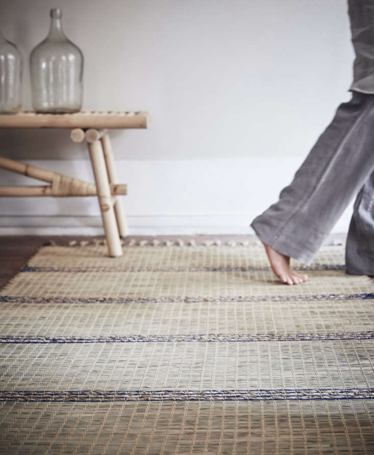 a subtly stripedtänkvärd rugis \$\29.99 for the 3 foot by 8 foot size. 12