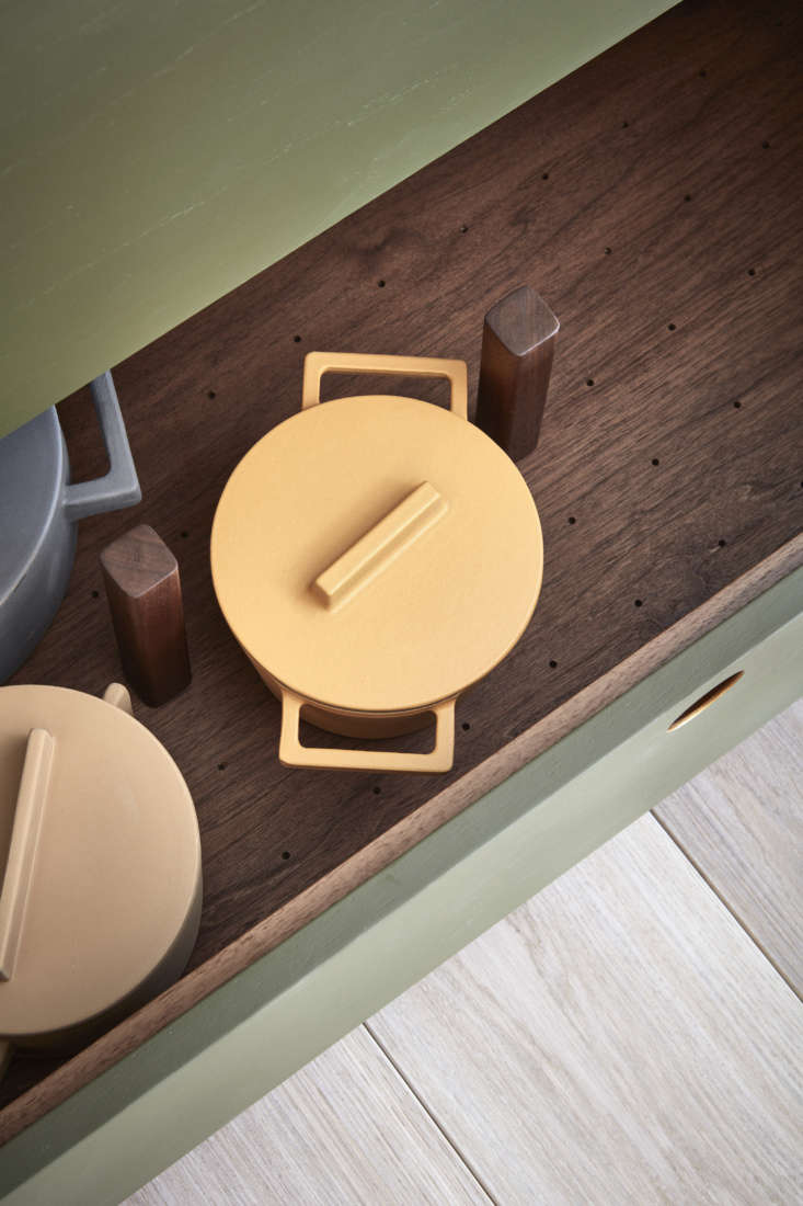 fitted pot storage in the ladbroke kitchen by naked kitchens, norfolk, england. 14