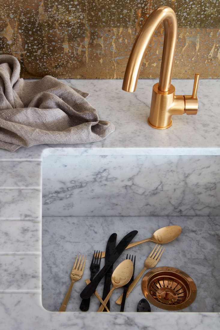 the polished brass faucet is part of a limited edition made locally for naked k 12