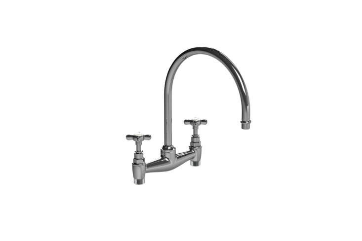 Another luxe essential from Lefroy Brooks, the Cross Handle Kitchen Bridge Mixer (Cloading=