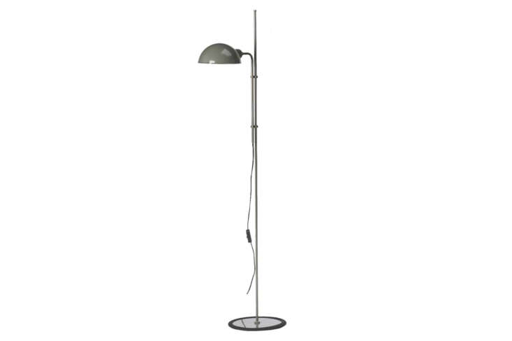 The Marset Funiculi Floor Lamp, shown in grey, is a design classic from 79 with a funicular up-and-down movement designed by Lluís Porqueras; $5 at Finnish Design Shop.