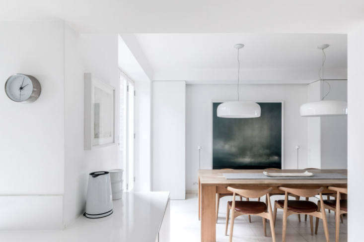 white walls and floors keep this basement floor light and bright. 10