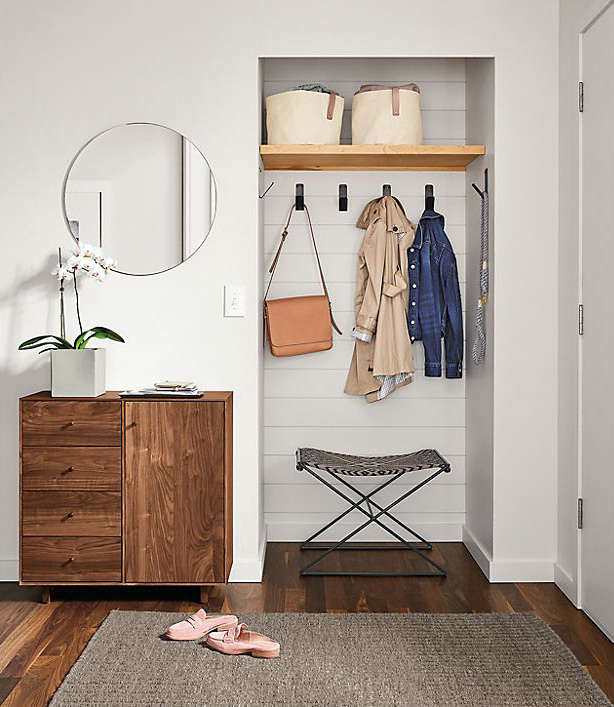 room & board has some great finds for a high style, organized entryway. see 9
