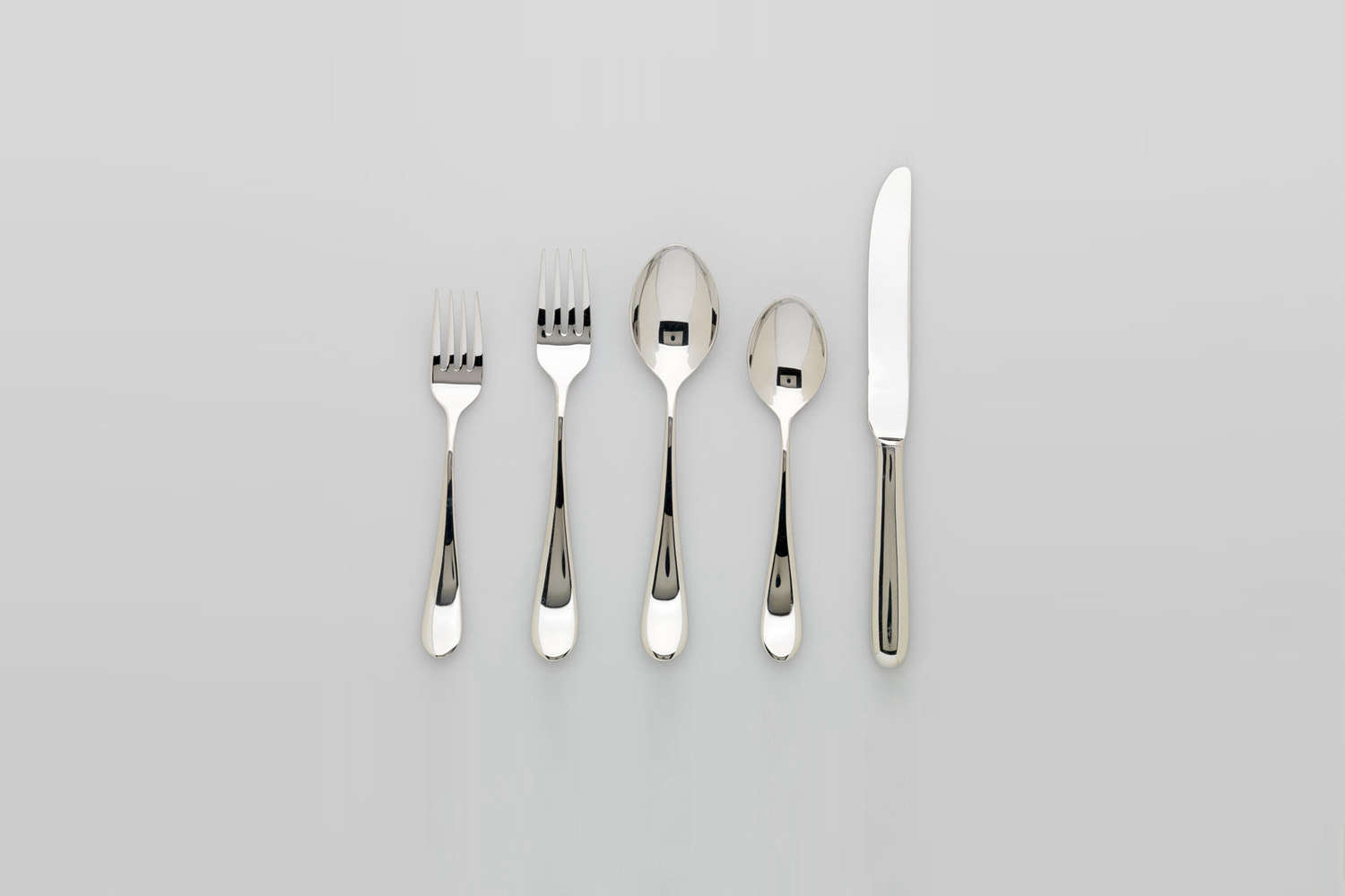 While it's no longer in production, Massimo and Lella Vignelli's Sasaki Basic Flatware set is Janet&#8
