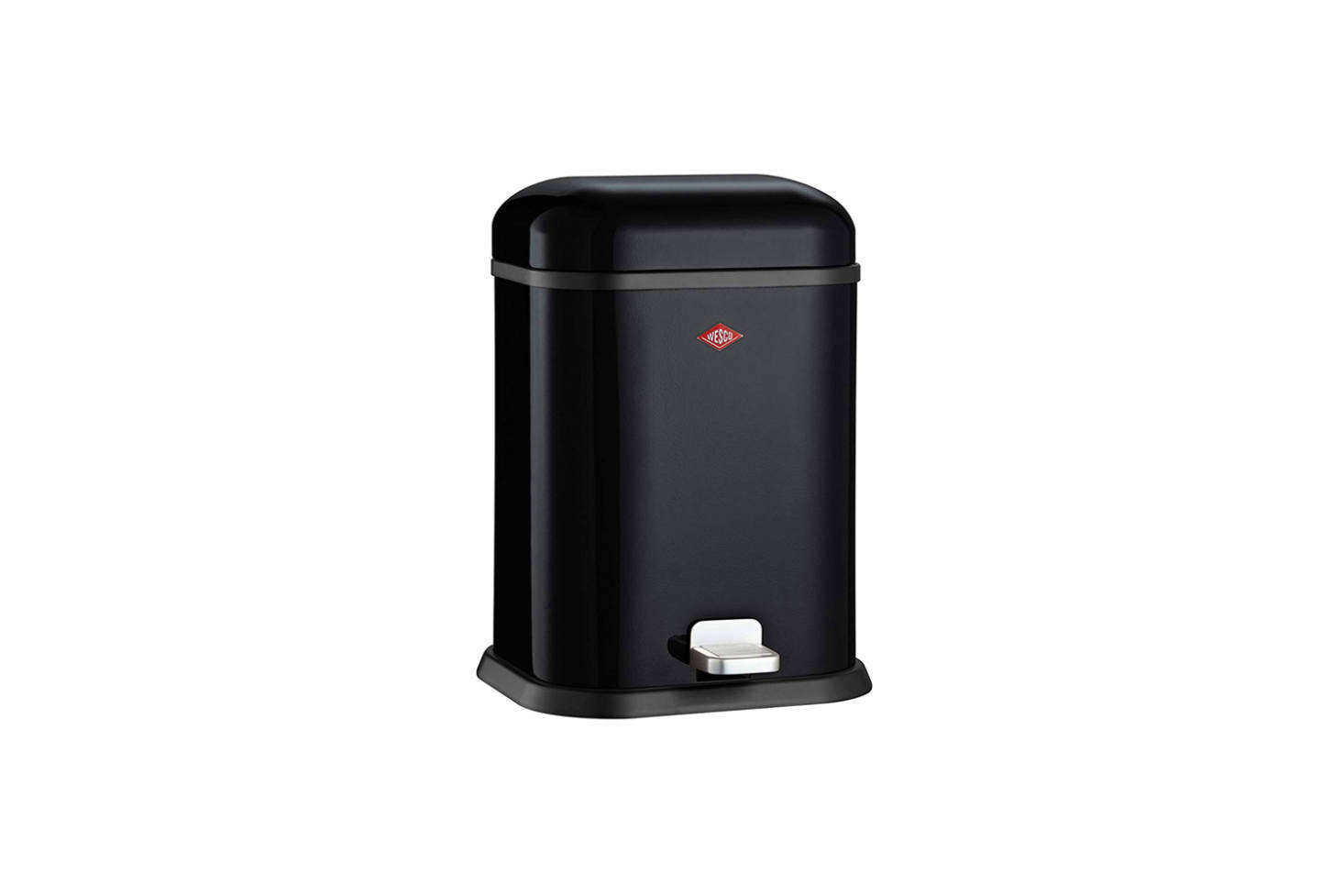 One of our favorite small trash bins is the Wesco Single Boy German-Designed Step Trash Can that comes in six different powder coated colors; $src=