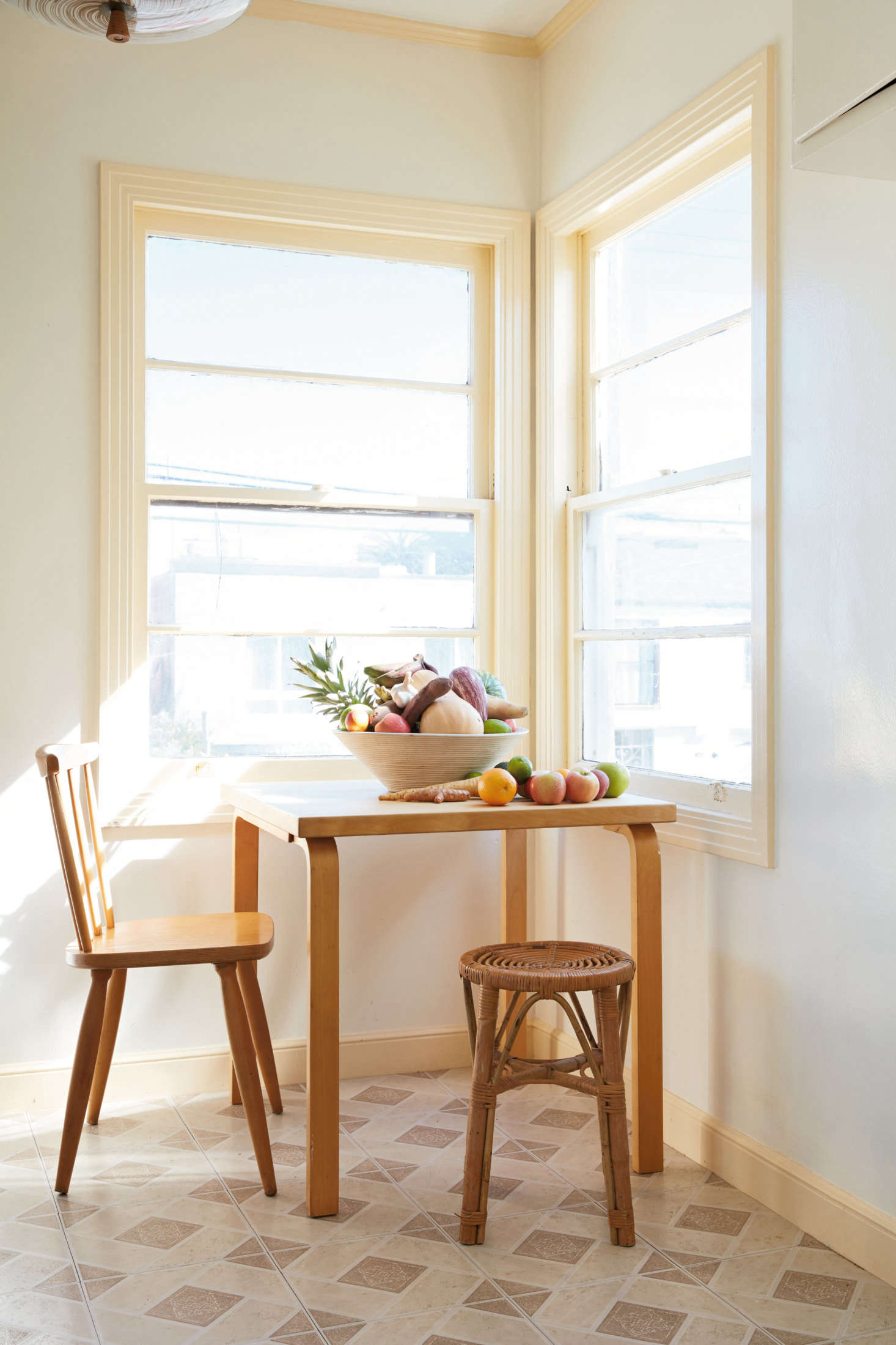 A breakfast nook in the couple&#8
