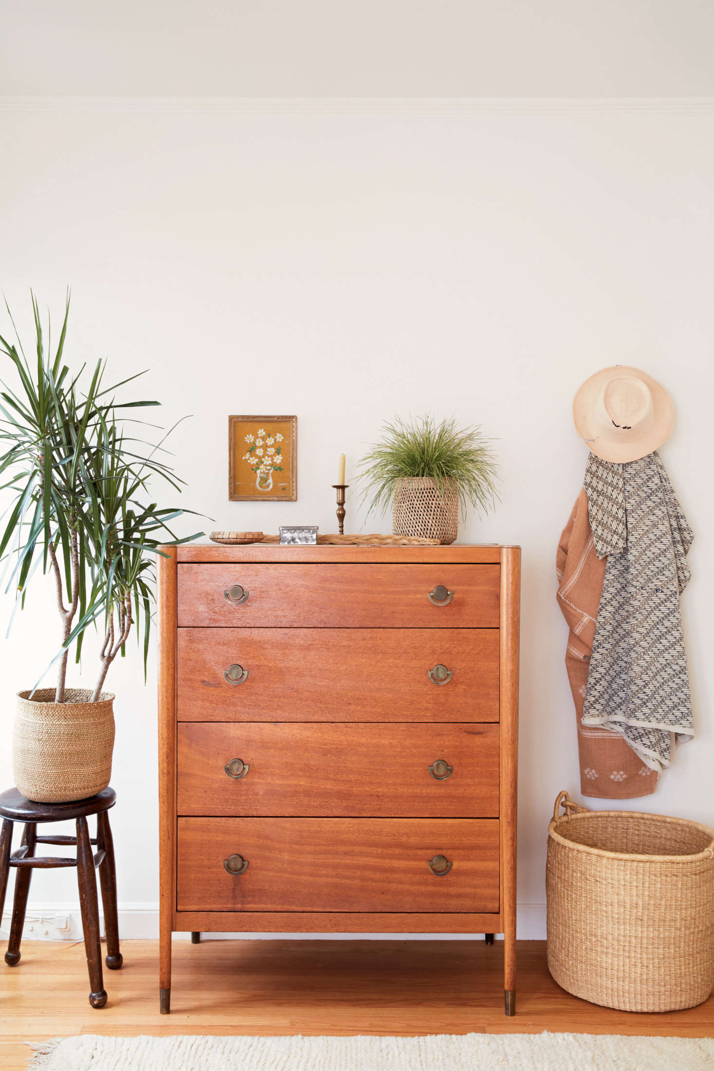 From the section on Nesting: a meditation on how, and from where, to source furniture, like this dresser, recently found at a flea market. It&#8