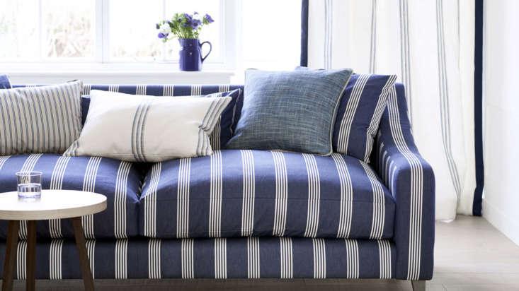 ian mankin striped couch