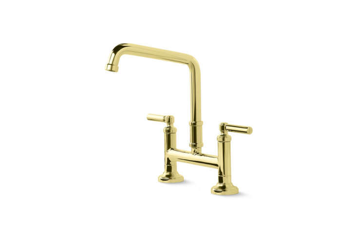 10 Easy Pieces Modern Bridge Faucets Another style from Kallista, the Quincy Deck Mount Bridge Faucet Lever Handles comes in four finishes; \$\1,770 at Kallista.