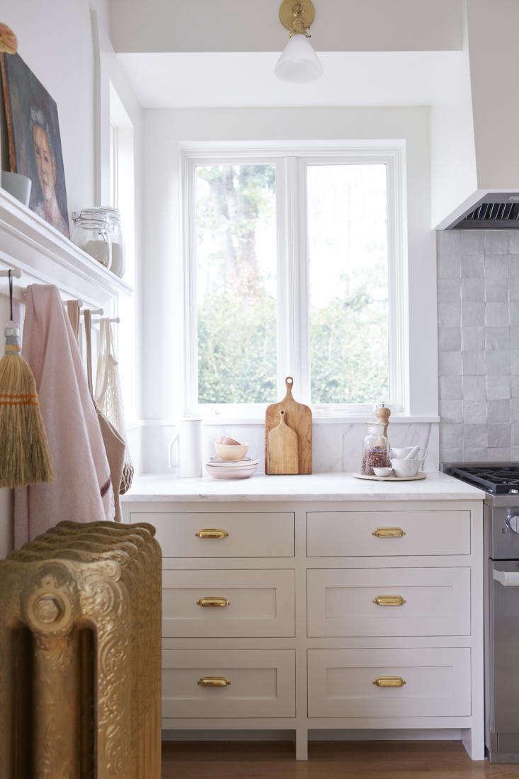 The countertops are Calacatta marble.