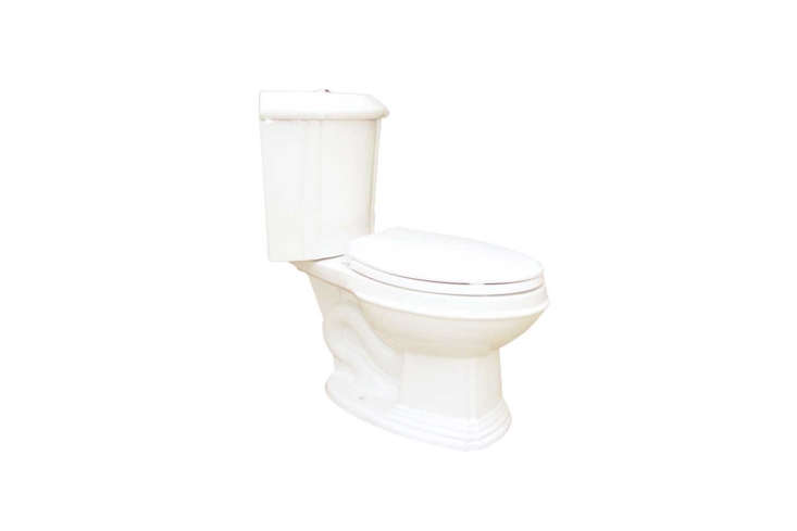 Another traditional style model from The Renovators Supply is the Bone China Elongated Space Saving Corner Toilet available directly from The Renovator&#8