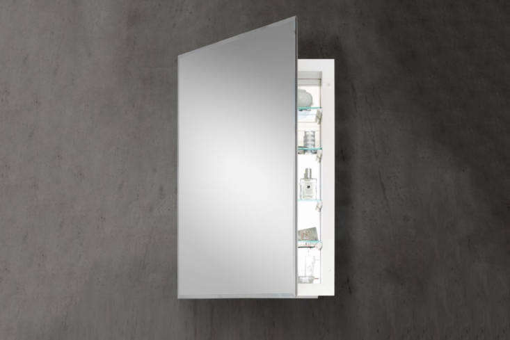 Another option from Restoration Hardware is the Frameless Inset Medicine Cabinet for an especially clean, floating mirror look. It&#8