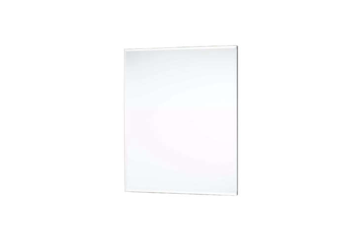 The Acwel Recessed Mount Medicine Cabinet has a double-sided mirror with beveled edges; $9 atSignature Hardware.