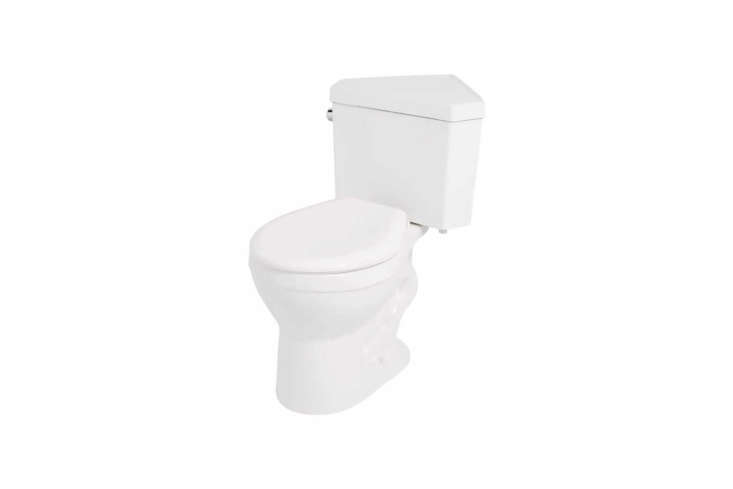 The Braeburn Two-Piece Corner Toilet with Seat is $9 at Signature Hardware.