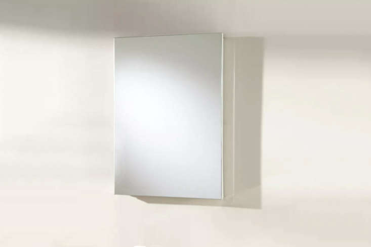 The Kenilworth Stainless Steel Recessed Medicine Cabinet with white powder coating is $9 atSignature Hardware.
