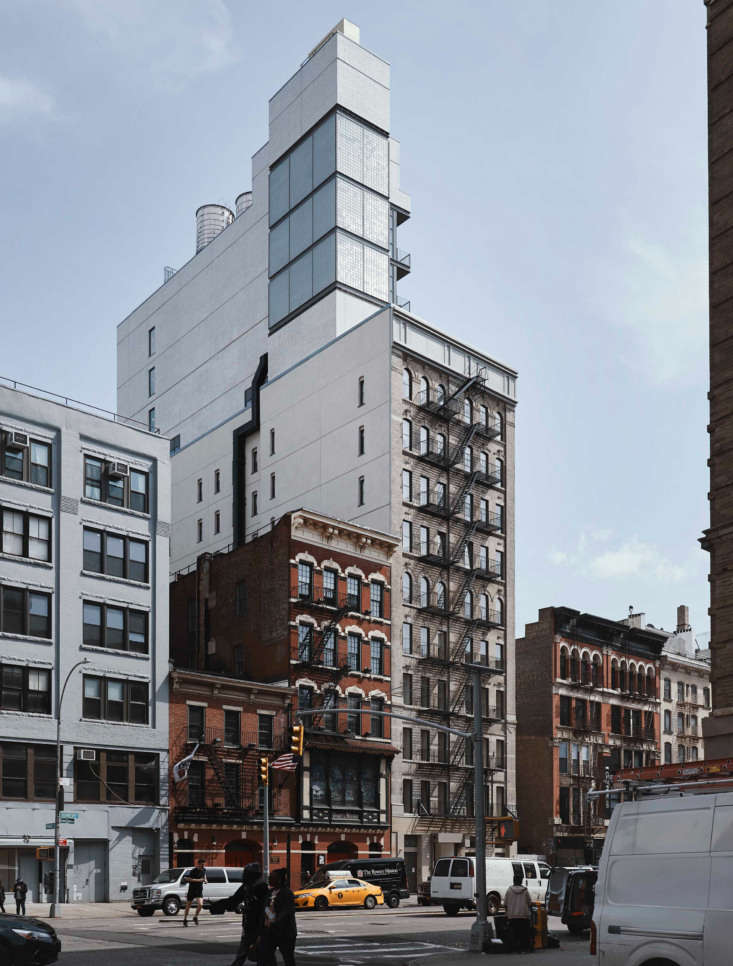 The exterior, in the formerly gritty Bowery neighborhood.