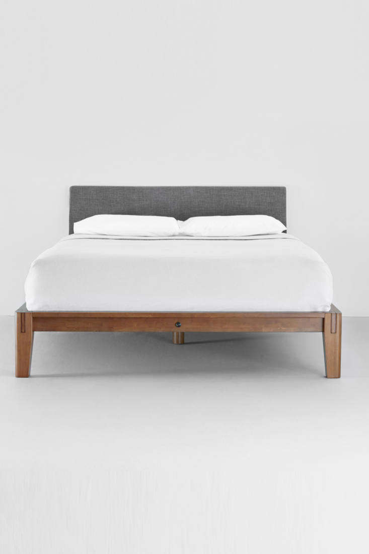 thuma platform bed frame charcoal headboard