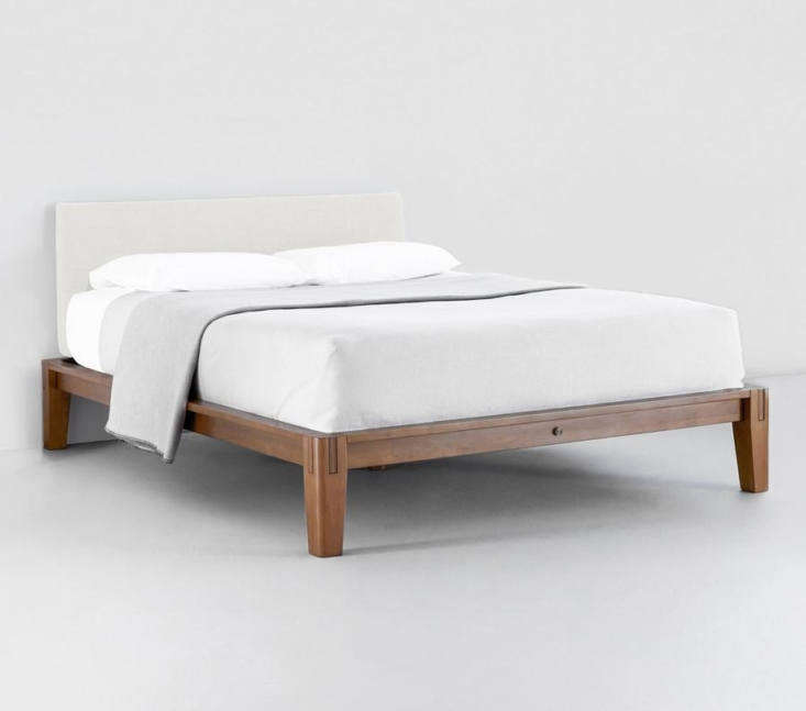 the minimalist design of the platform bed frame was inspired by modern architec 10