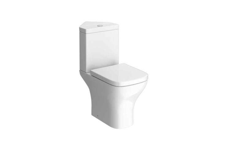 The Venice Modern Corner Toilet with Soft Close Seat is £9.95 at Victorian Plumbing in the UK.