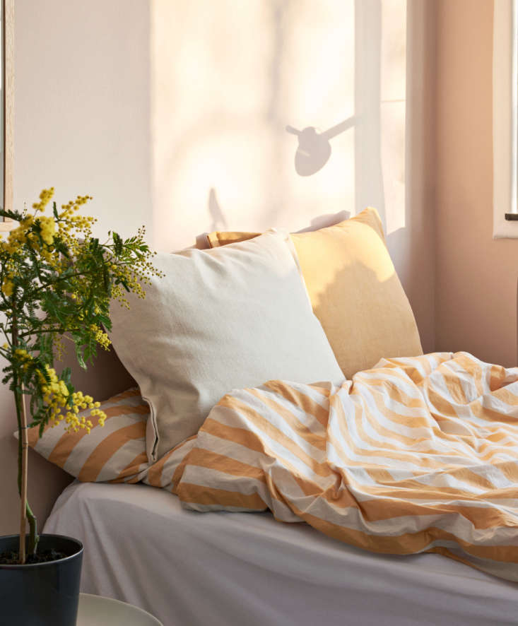 ete collection hay duvet cover warm yellow