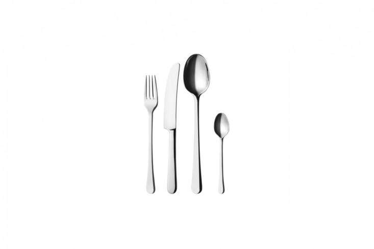 Grethe Meyer trained as an architect at the Academy of Arts in Copenhagen; her elegantly proportionedGeorg Jensen Copenhagen Steel Cutleryis available in amatteand amirrorfinish; €45 for a four-piece place setting at Georg Jensen.
