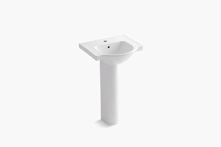 The Kohler Veer Pedestal Bathroom Sink (K-55-loading=