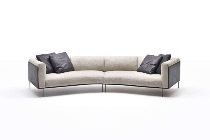 The Piero LissoniRod Bean Sofadesigned for Living Divani, is a curved style that sits on a minimal frame made of lacquered, drawn tubular steel and stainless steel feet. The sofa is £,954 at TwentyTwentyOne.