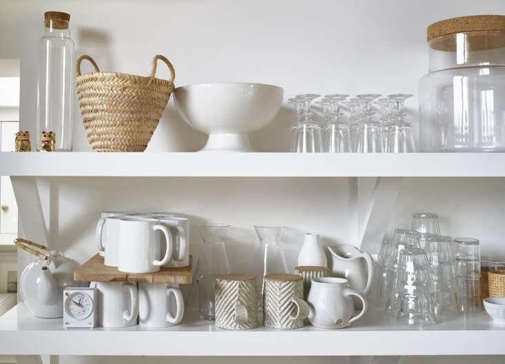 Open shelves display Pearson&#8