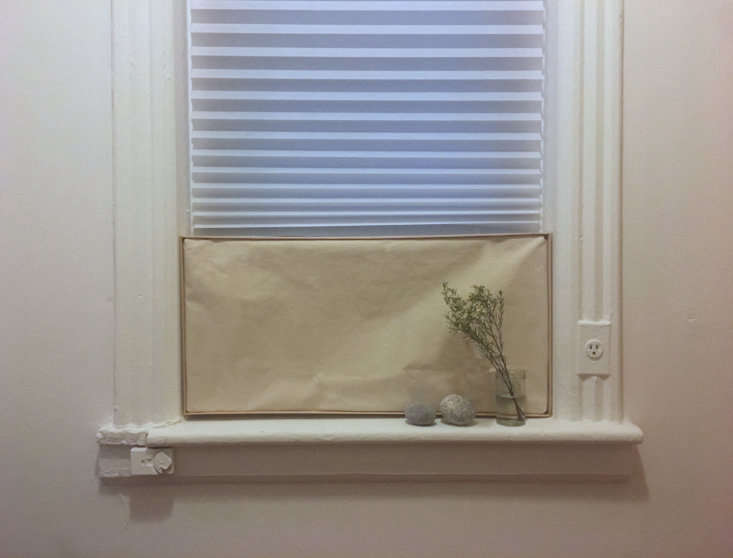The cover is big enough to cover the whole AC unit. When the unit is in use, I just take the cover down and lean it against the wall.