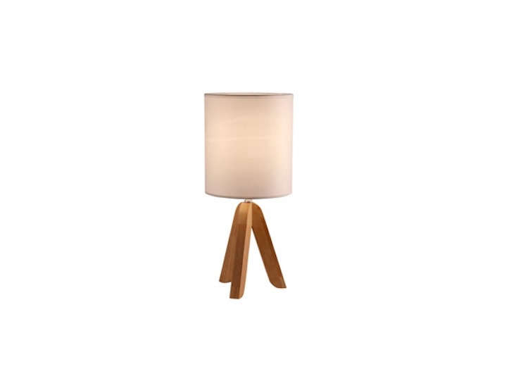 the wooden table lamp with a linen shade is \$39.95 at light accents. 15