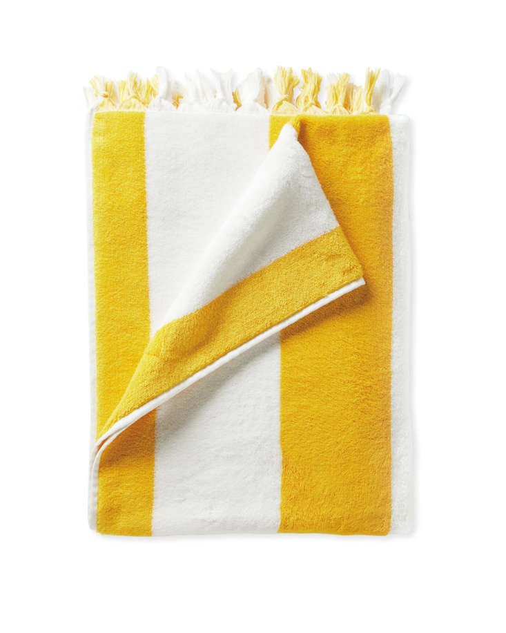 serena lily striped beach towel