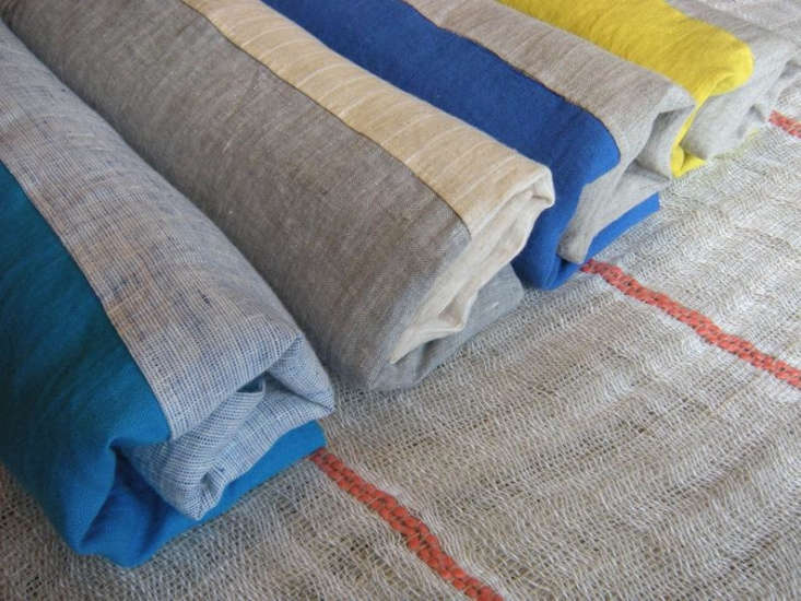 simone washed linen beach towel 2