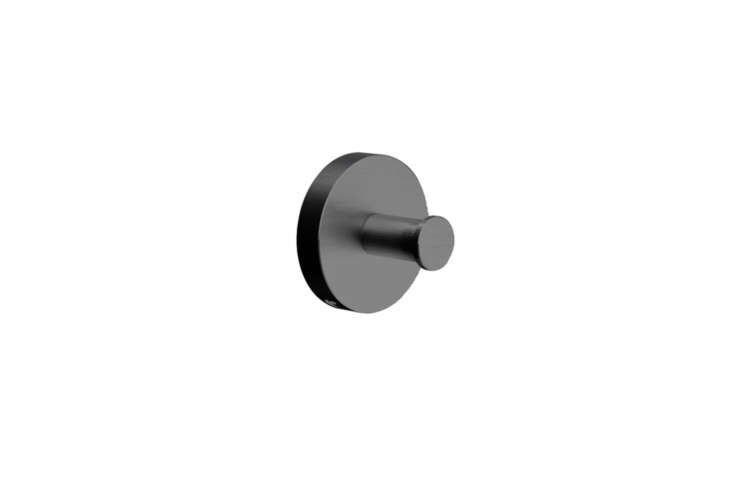 The Cocoon Mono 63 Hook comes in small (shown) and large in gunmetal black, stainless steel, and raw copper. Prices start at $5 each at Casson Hardware.