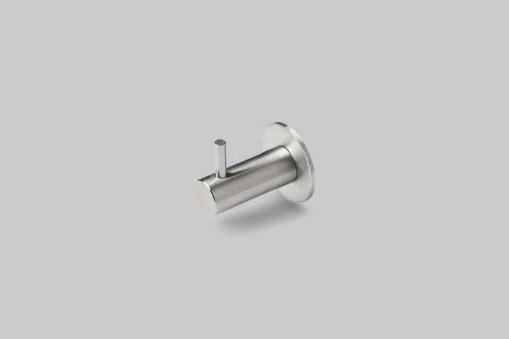 the d line knud coat hook with pin, in satin or polished nickel, is \$68 at cas 22