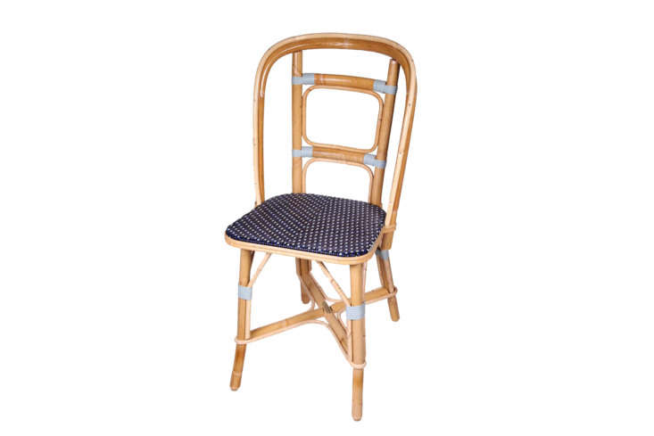 10 Easy Pieces French Bistro Chairs High to Low Since its founding in \1885, Maison Drucker of France has specialized in traditional rattan designs made by hand to order in customizable colors. Shown here, the DruckerChaise Arlequin; inquire for pricing.