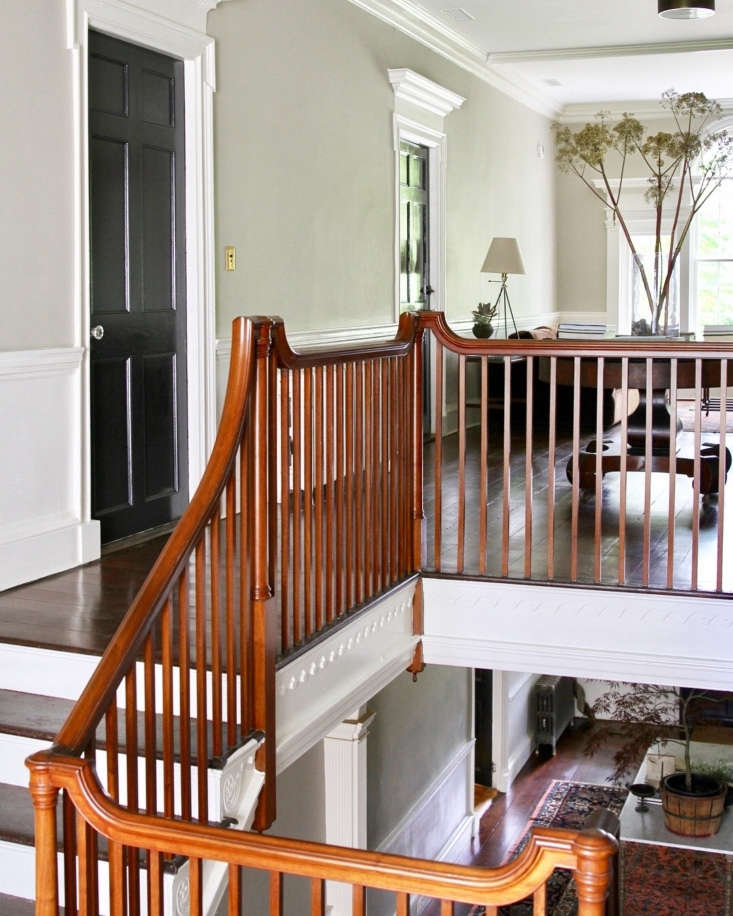 The gorgeous original staircase leads to guest rooms and a second-floor sitting area. The floors are yellow pine, installed in the mid 00s.