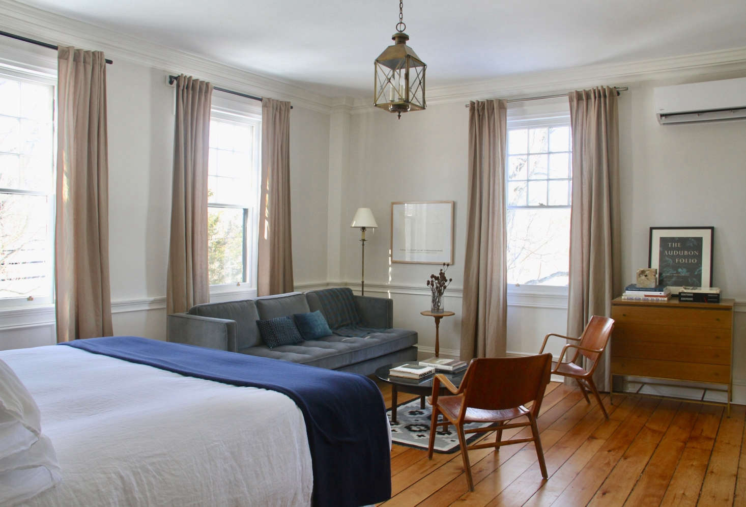 There are five guest rooms in all. Each room has Matteo bed linens, Faribault blankets, and charm to spare. This is guest room #